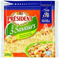 Le 3 Saveurs (Tomme de Caractère, Emmental, Mozzarella 28 % MG - Produit - fr