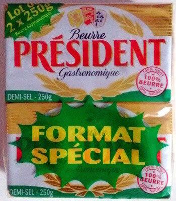 Beurre gastronomique demi sel 80% Mat. Gr. - Produit - fr