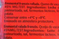 Emmental fundir & gratinar - Ingredientes - fr