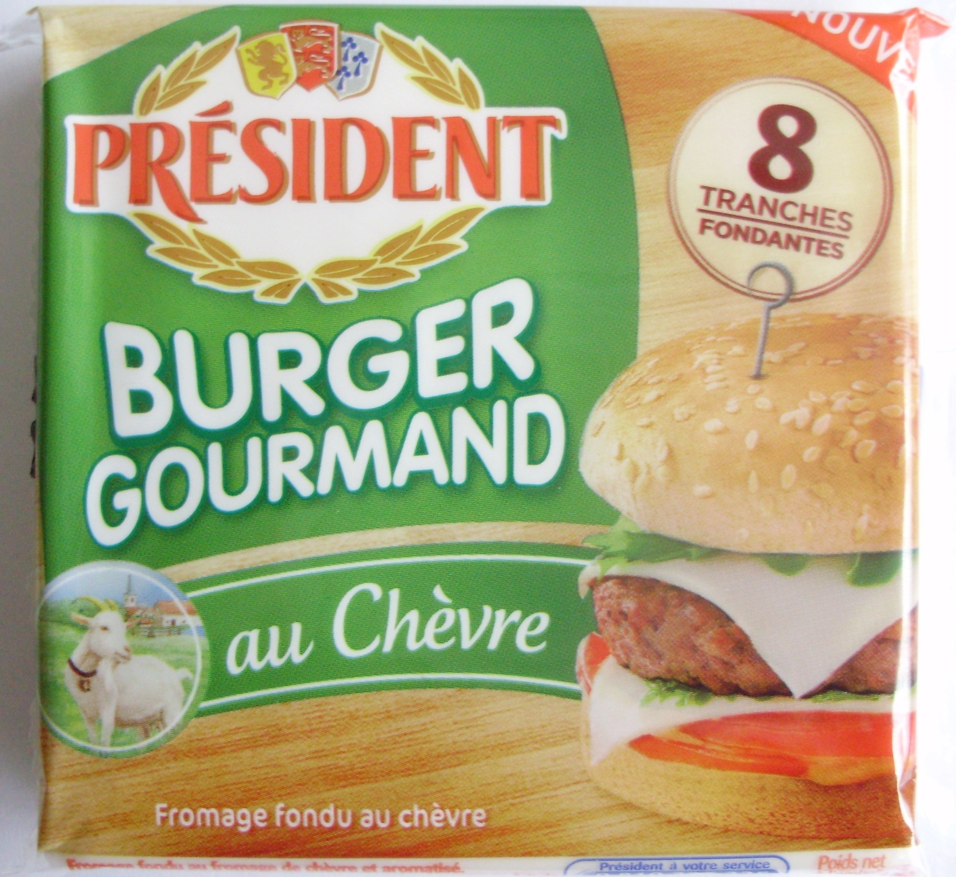 Burger Gourmand au Chèvre (18 % MG) 8 Tranches - Product - fr