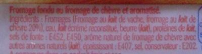 Burger Gourmand au Chèvre (18 % MG) 8 Tranches - Ingrédients
