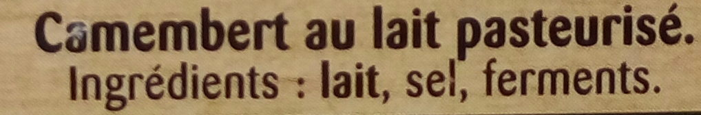 Camembert de Campagne - Ingrédients - fr