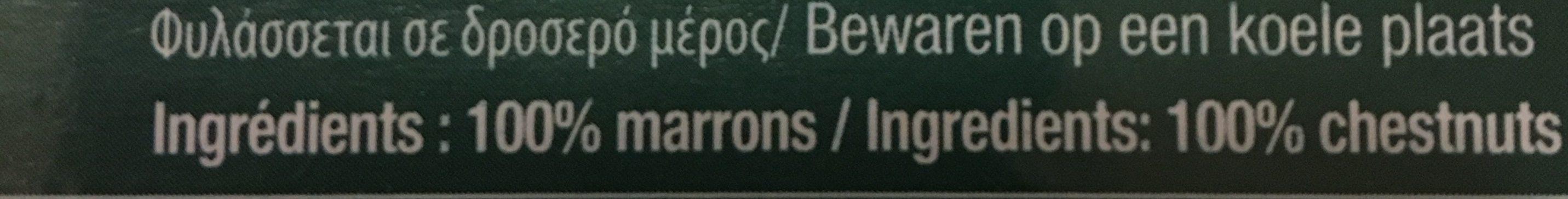 Marrons à La Vapeur - Ingrediënten - fr