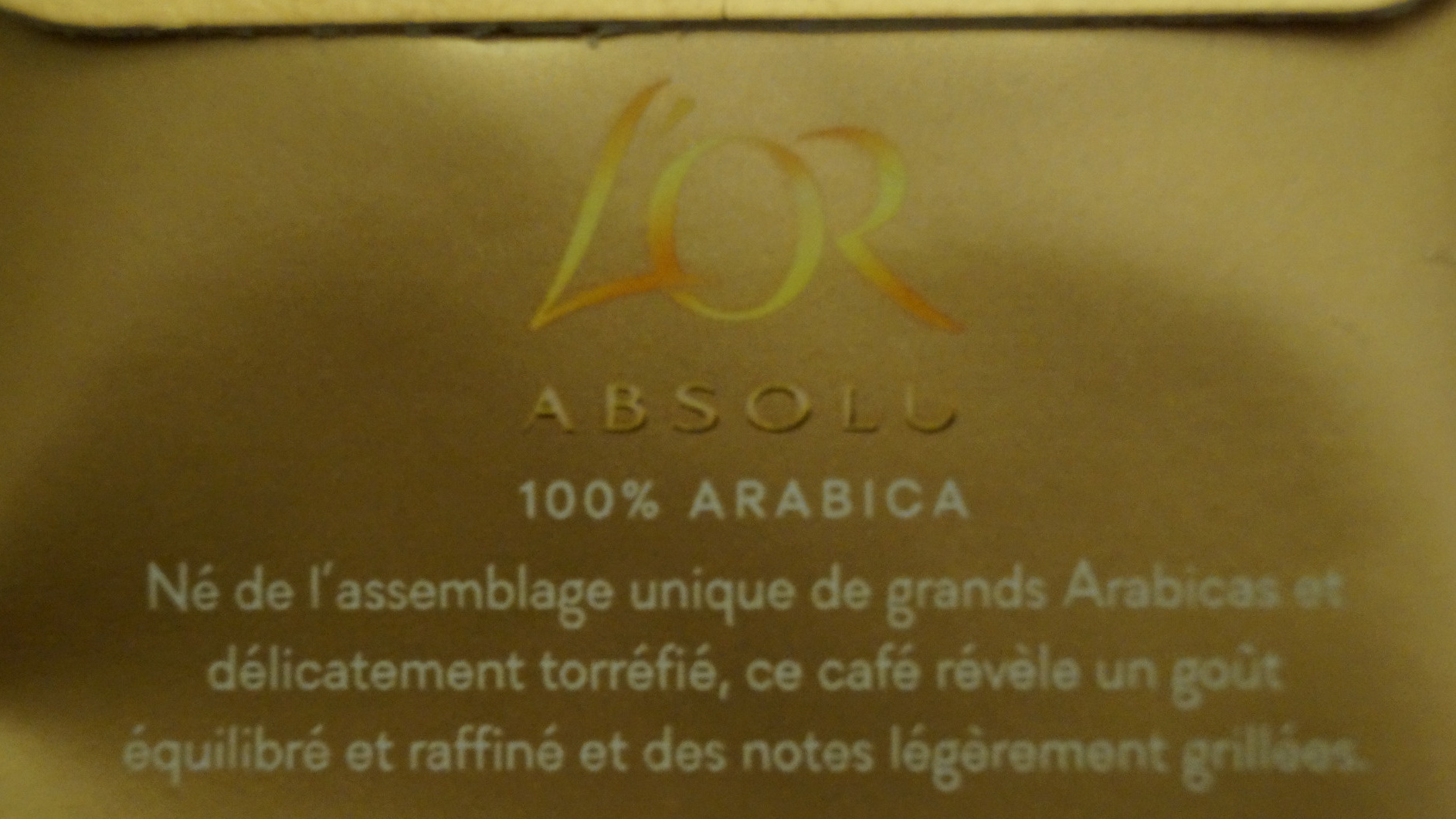 L'Or Absolu - Secret d'arôme - Ingrediënten