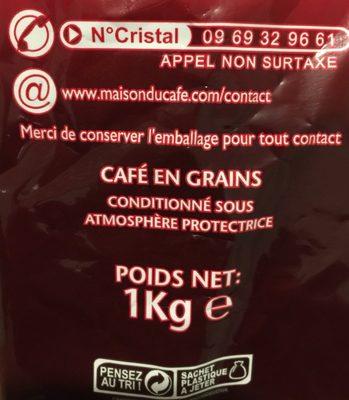 Maison du café en grains - Ingredienti - fr