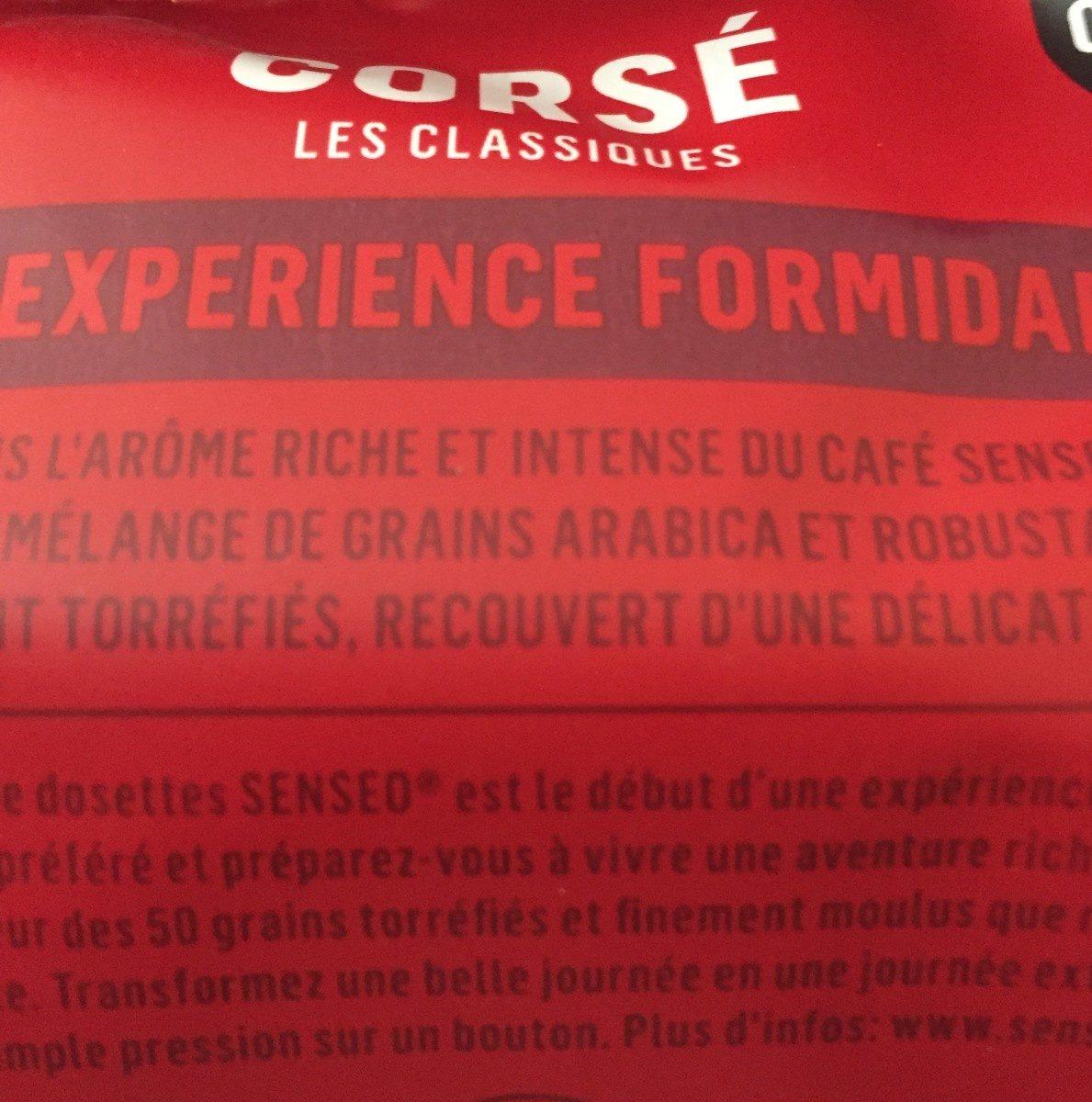Senseo corsé - Ingrediënten - fr