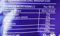 Cappuccino choco, 8 dosettes - Valori nutrizionali - fr