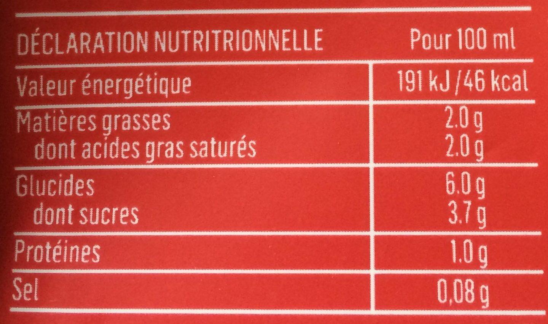 """Cappuccino """"speculos"""" - Valori nutrizionali - fr"""