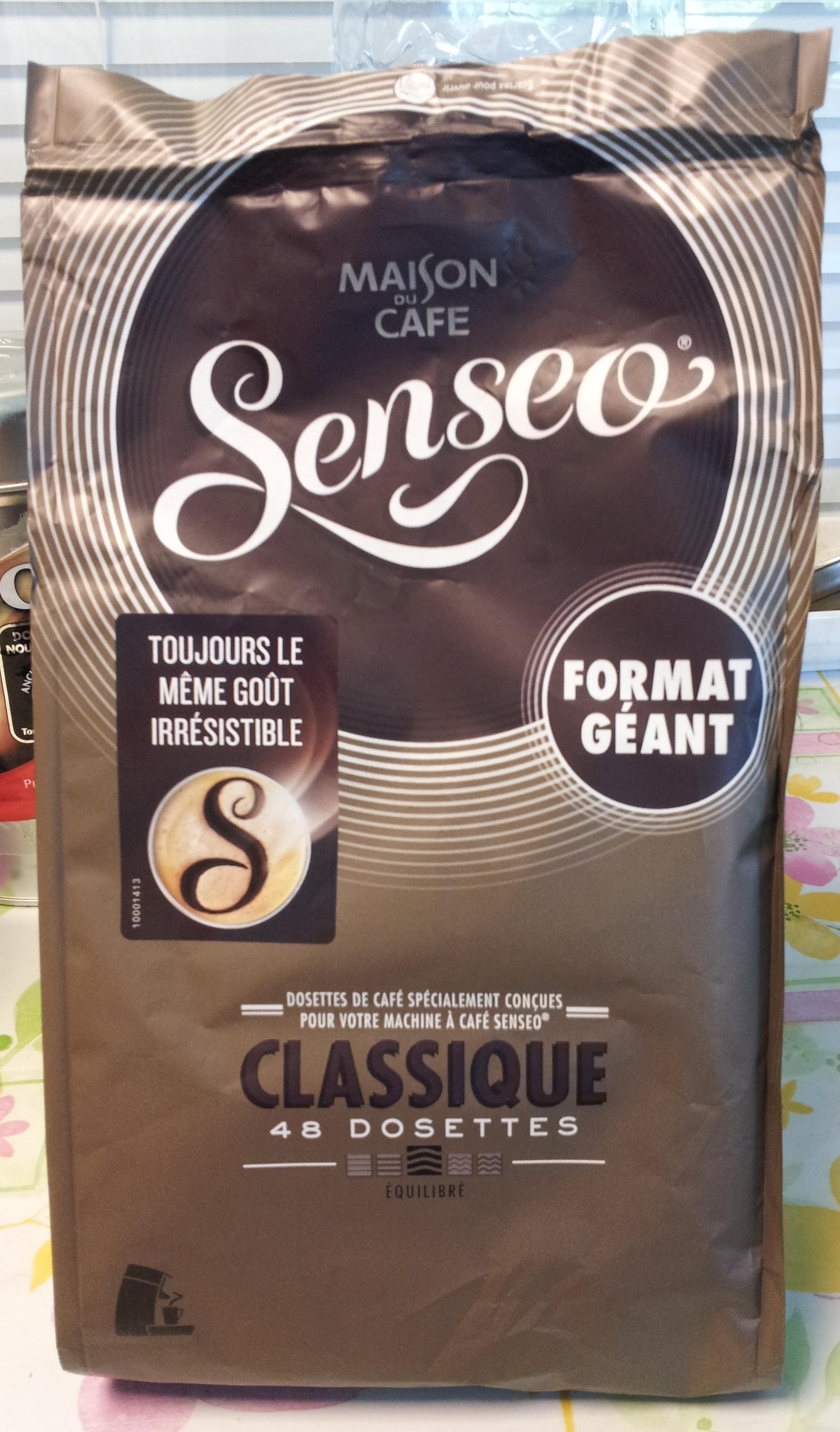 senseo classique maison du caf 48 dosettes 333 g. Black Bedroom Furniture Sets. Home Design Ideas