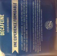 Dosettes de café moulu, décaféiné, format maxi plaisir - Ingredienti - fr