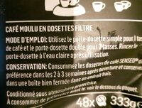 Dosettes Expresso - Ingredienti - en