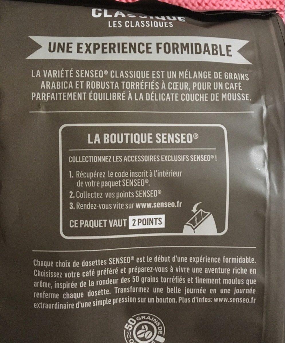 Senseo classique - Ingredienti - fr
