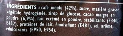 Senseo Café choco - Ingrediënten - fr
