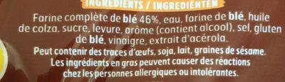 Pain Extra Moelleux complet - Ingrediënten
