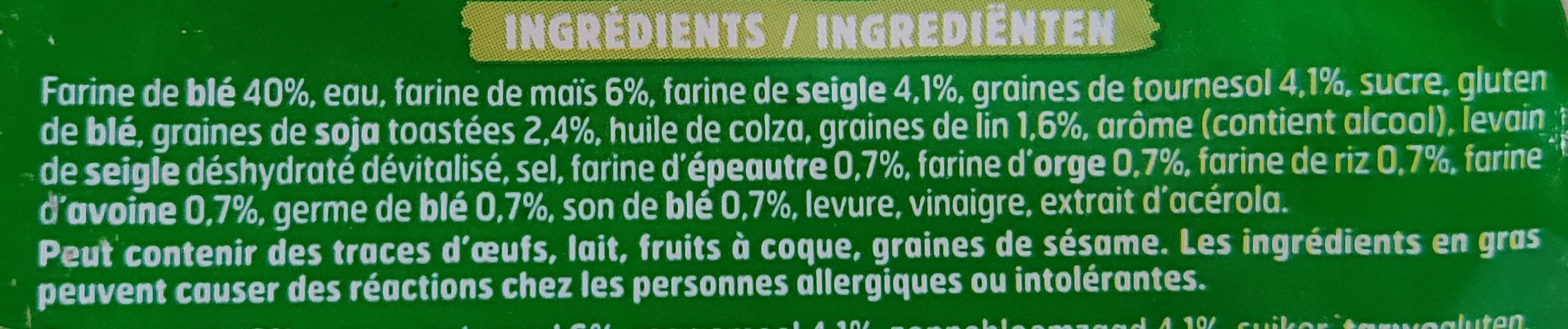 Pain AMS 7 céréales - Ingrédients - fr