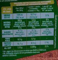 Harrys pain de mie american sandwich 7 cereales - Información nutricional - fr