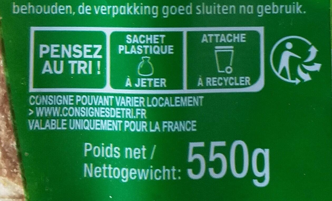 Harrys pain de mie american sandwich 7 cereales - Instruction de recyclage et/ou informations d'emballage - fr