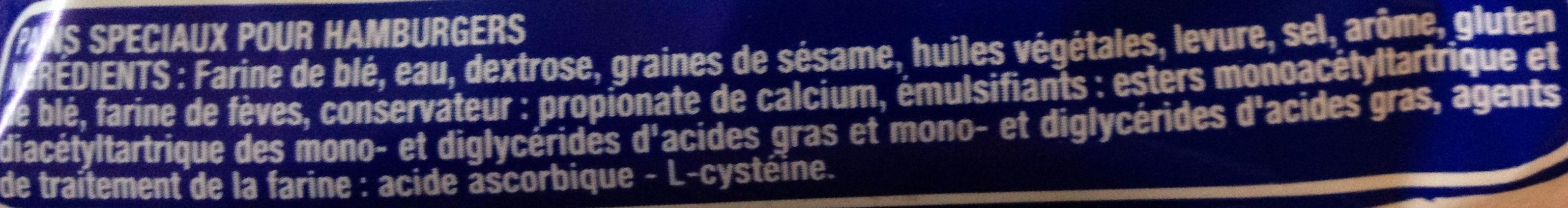 Le Burger Classique - Ingrédients