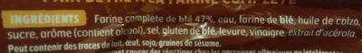 Harrys pain de mie extra moelleux complet - Ingredienti - fr