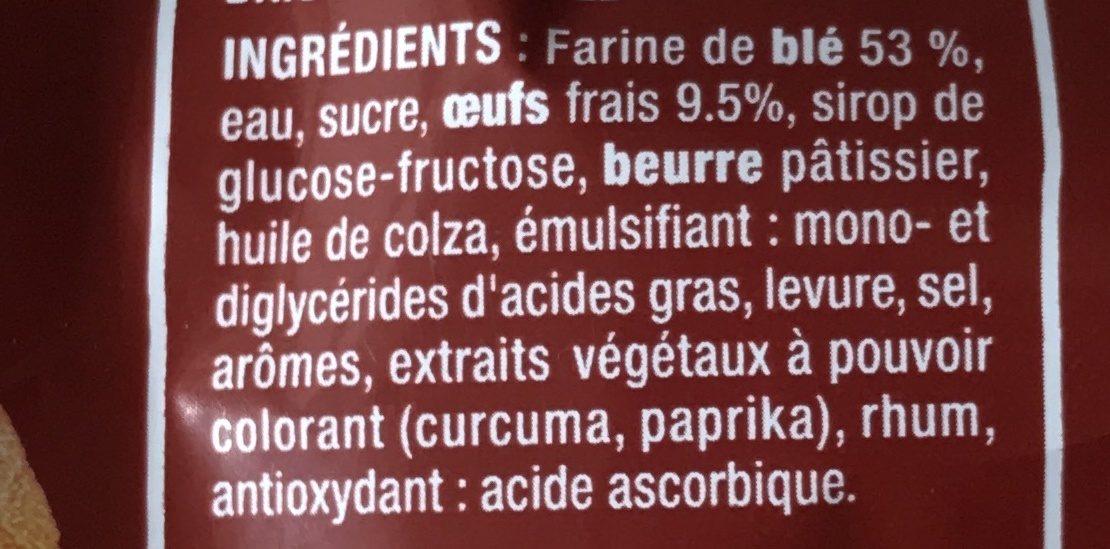 Brioche tranchée nature - Ingredienti - fr