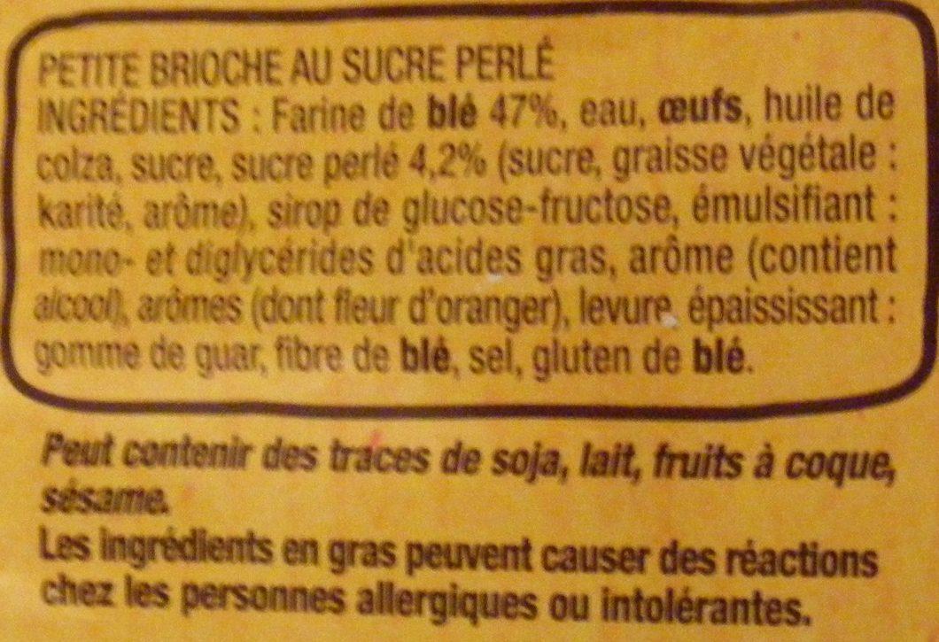 Mini tressée - Ingredients