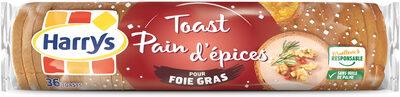 Toasts pain d'épices pour foie gras - Produit - fr