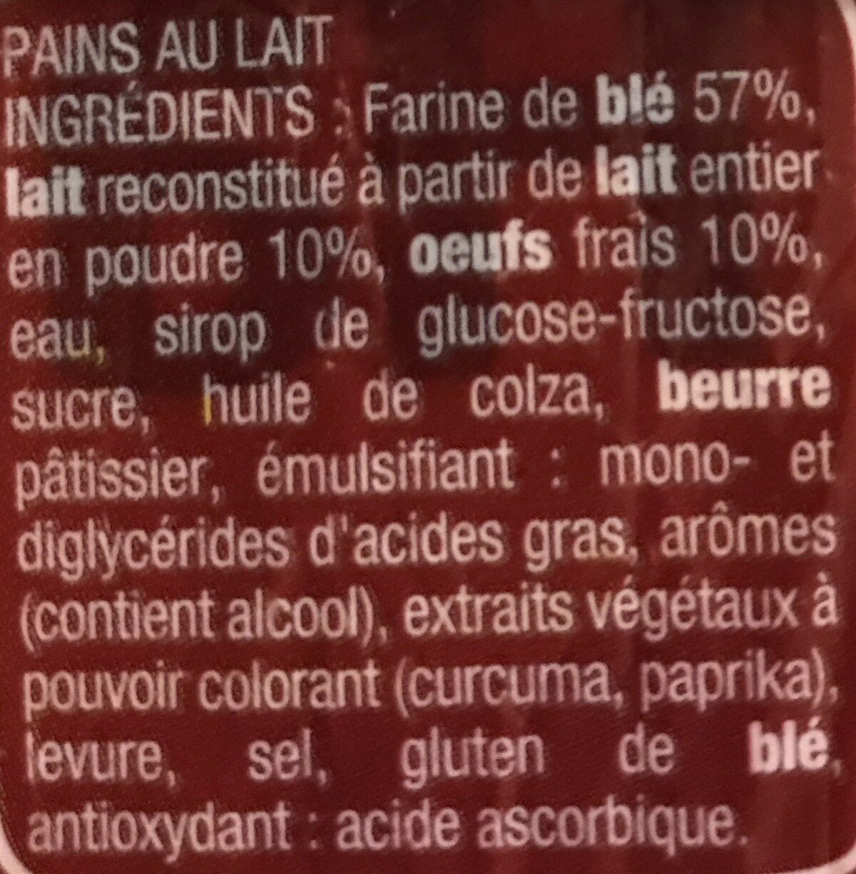 Pains au lait - Ingrediënten