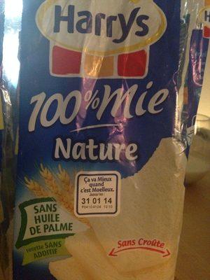 100% mie, nature, sans croûte - Produit - fr