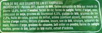 Pain de mie Lin & Tournesol - Ingrédients - fr