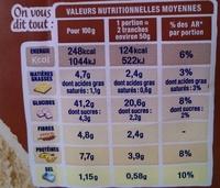 100% mie complet - Valori nutrizionali - fr