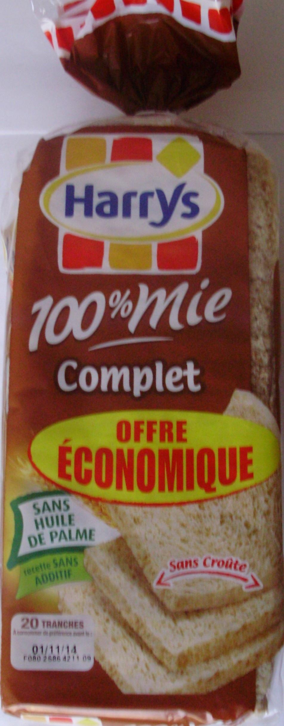 100 % Mie Complet Sans Croûte - Offre économique - Produit