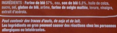 100 % Mie Complet Sans Croûte - Offre économique - Ingrédients