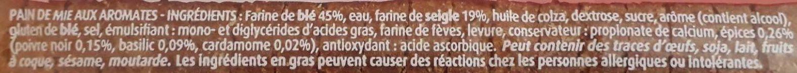 Toast saumon 280g - Ingredienti - fr
