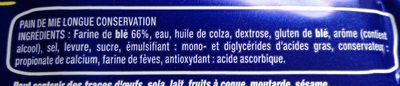Harrys pain de mie longue conservation nature - Ingredients - fr