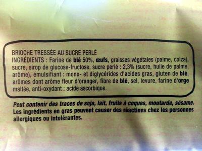 Brioche Tressée - Ingrédients - fr