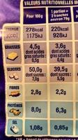 Pain de mie longue conservation - Valori nutrizionali - fr