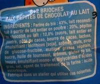 DooWap aux Pépites de Chocolat au Lait - Ingrédients - fr