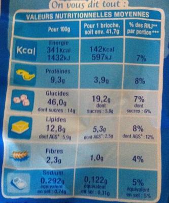 DooWap aux Pépites de Chocolat au Lait - Informations nutritionnelles - fr