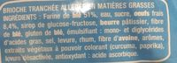 Brioche Tranchée Light - Ingrédients - fr