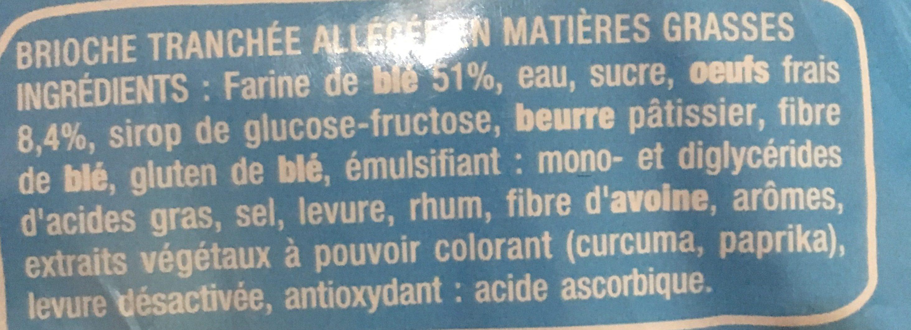 Brioche Tranchée Light - Ingredients - fr