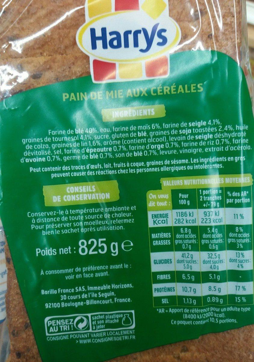 Pain AMS 7 céréales - Ingrediënten
