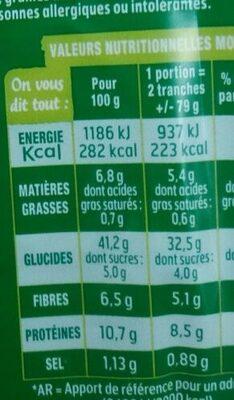 Pain AMS 7 céréales - Valori nutrizionali - fr