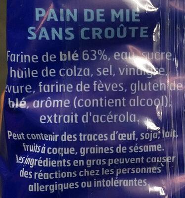 Pain 100% mie nature PT - Ingrédients - fr