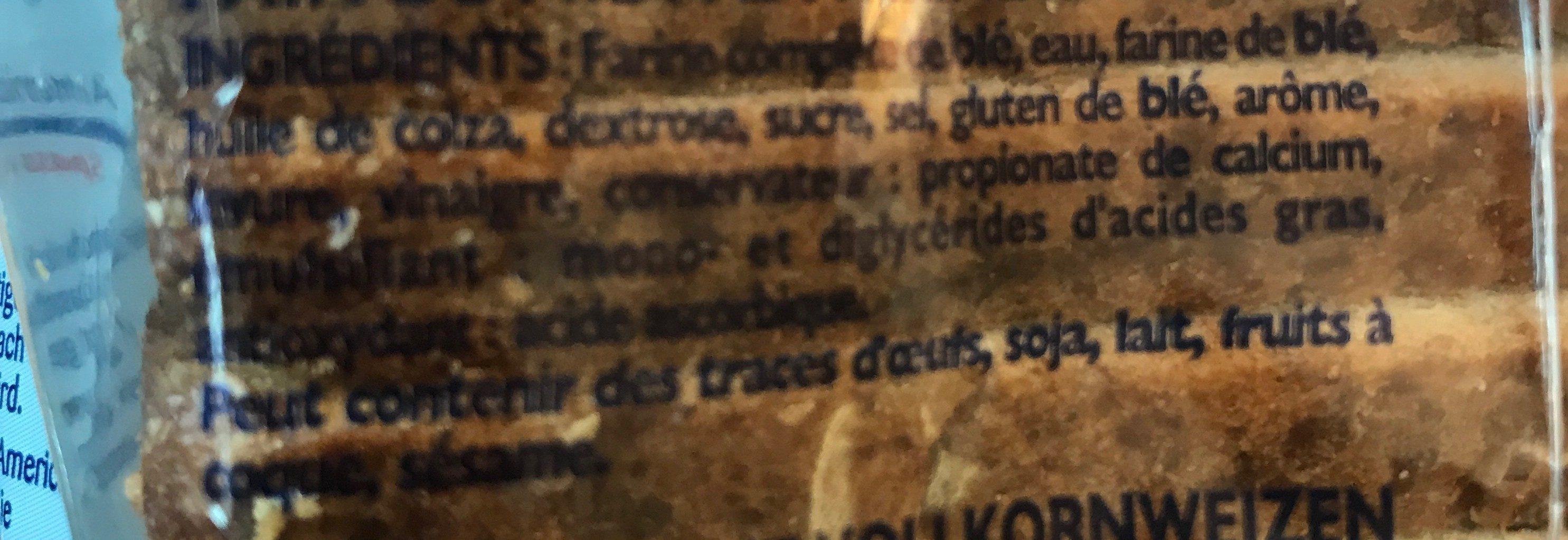 American Sandwich Complet 600 GR, 1 Pièce - Ingrédients