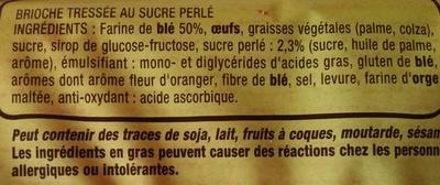 Brioche tressée à la main au sucre perlé - Ingrédients