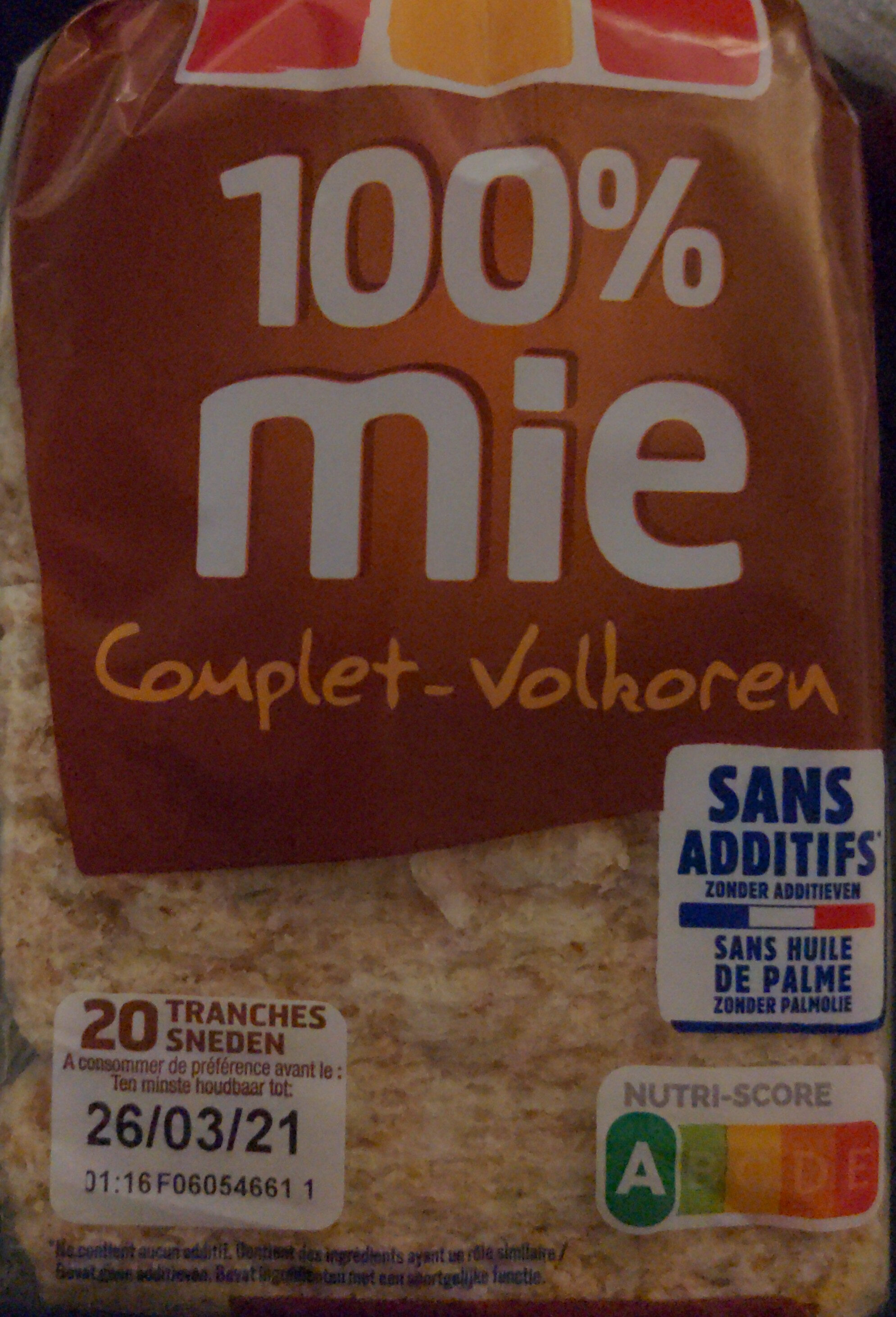 Harrys 100% mie pain de mie sans croute complet - Prodotto - fr