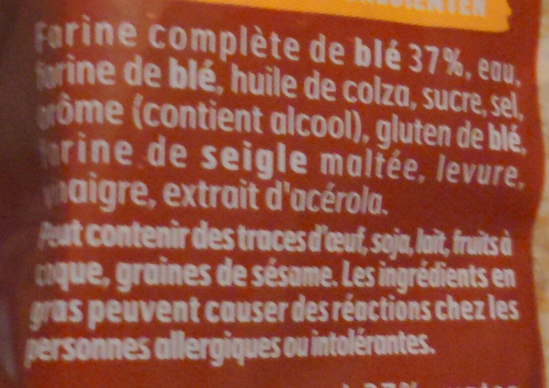 100% mie complet - Ingrediënten - fr