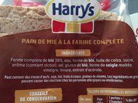 Harrys pain de mie american sandwich complet maxi - Ingrédients - fr