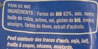 American sandwich nature - Ingrédients - fr