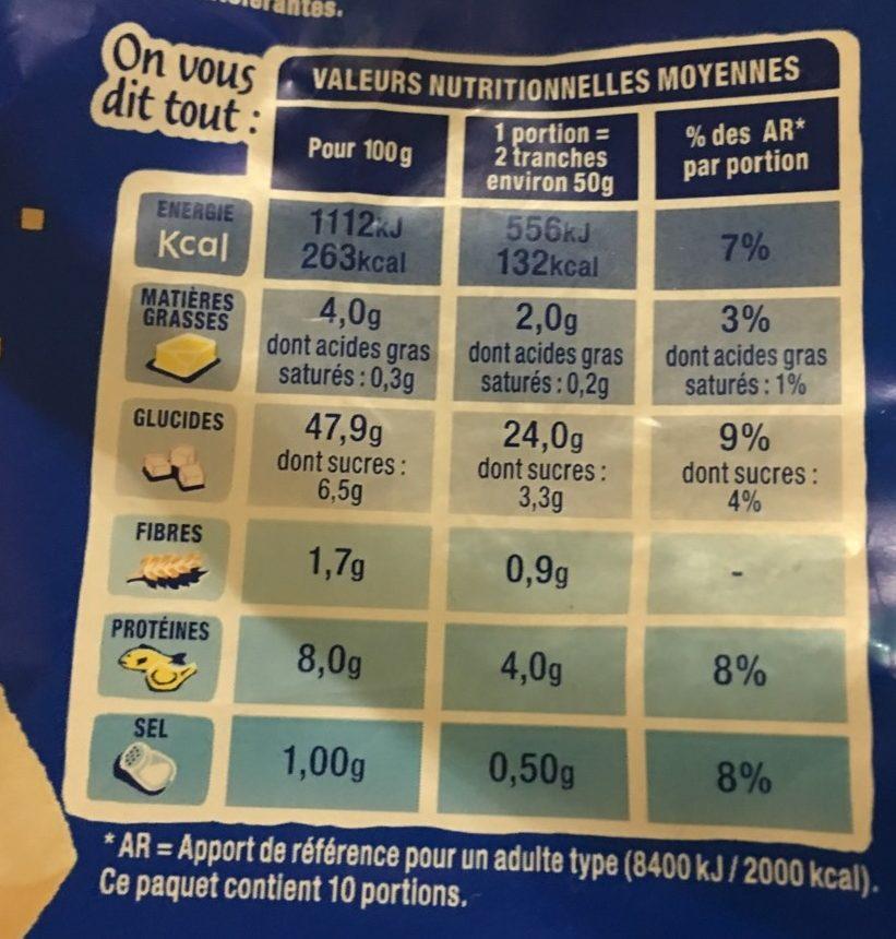 100% Mie Nature sans huile de palme - Valori nutrizionali - fr